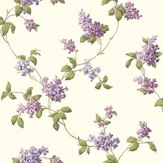 Refreshing floral medium white background/lavendar wallcovering by York. Item JG0620. Best prices and fast free shipping on York wallpaper. Find thousands of patterns. Width 20.5 inches. Sold by the roll.