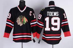 Chicago Blackhawks #19 Jonathan Toews Black Jersey