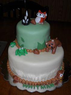 Forest Animals Birthday Cake by Katie