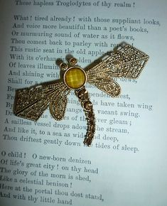 4787edafccc Golden Filigree Dragonfly Pin. Etsy Vintage, Filigree, Vintage Jewelry,  Vintage Jewellery,