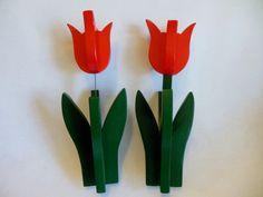 TULIPS  ...  Wooden Sculpture  ...  Flowers  ... by MaggiesKlosets, $12.00
