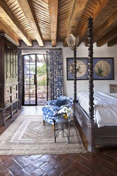 The property's lush gardens and jacaranda trees provide bold color that complements the interior palette. The newly constructed guest Casita features its own Sala Abierta facing the saltwater pool, a bedroom suite on each of its two floors and a roof terrace with views of San Miguel de Allende. A palette of blue and white…