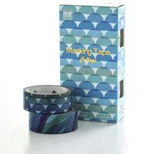 Blue Waves Japanese Washi Tape, Washi Tape Set, Masking Tape, Scrapbooking Stickers, Planner Stickers - WT309