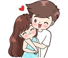 Sticker pack for cute couples in love Love Cartoon Couple, Cute Couple Comics, Cute Love Cartoons, Anime Love Couple, Cute Anime Couples, Cute Love Pictures, Cute Cartoon Pictures, Cute Couple Drawings, Cute Kawaii Drawings