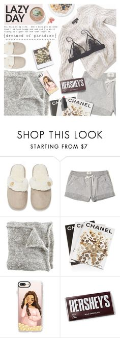 """Sleep In: Lazy Day"" by preciouspearll on Polyvore featuring Lounge & Sleep, Hollister Co., Assouline Publishing, Wallflower, Casetify, Laundry, Hershey's, Garance Doré, LazyDay and sleepwear"