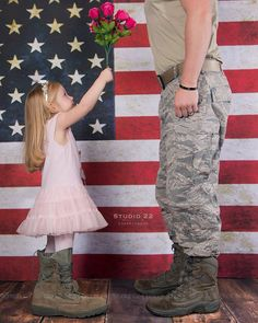 America | Air Force | valentine | toddler | daddy | daughter | flowers | military | photography  www.facebook.com/ChooseStudio22 www.ChooseStudio22.com Copyright: Studio 22 Photography 2014