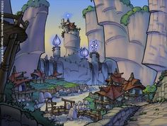 Rock Village concept art | Jak and Daxter- this is such a frustrating place..I have been stuck here forever .-. Eh. -Talon