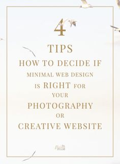 Tips How to decide if Minimal Web Design is right for your photography or creative business website