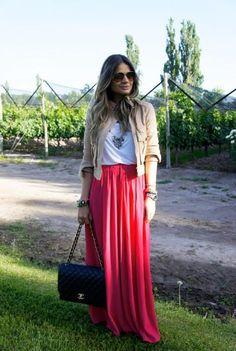 Pink Skirt - Thassia Naves. Look moda fashion brasil brazil blogger style