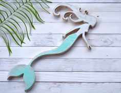 Mermaid Wood Wall Art aloha mermaid tail, handmade in hawaii, up-cycled , wood wall art