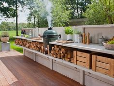 Outdoor Kitchen Is Truly A Wow! #Luxury Houses
