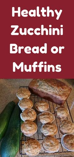 I posted a picture of the zucchini bread and muffins I made with zucchini from my garden. So here is my version of healthy zucchini bread! Diabetic Recipes, Diet Recipes, Cooking Recipes, Healthy Recipes, Diabetic Bread, Healthy Baking, Healthy Snacks, Zucchini Bread Muffins, Banana Bread