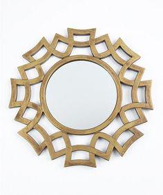 Love this Gold Sun Round Mirror on #zulily! #zulilyfinds