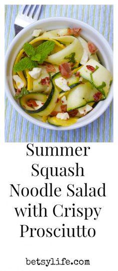 squash salad with crispy prosciutto summer squash salad with crispy ...