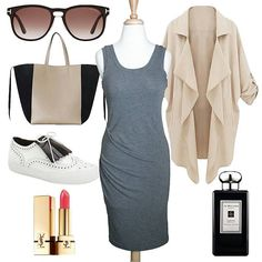 Happy days! ✔check out our Asymmetric Side Pleat Dress in Heather Charcoal @classicpaperdoll ~ pair it with a cardigan | swag sneakers | stylish sunglasses | urban tote | our #cpdfave #ysl lipstick in Rouge Pur Couture #52 Rosy Coral | our fav #jomalone Perfume in Tuberose Angelica | ~ #outfit #ootd #classicpaperdoll #igdaily #instalike #instalove #fashionaddict #fashion #followforfollow #tagsforlikes #인스타스타일 #인스타그램 #옷스타그램 #데일리 #일상