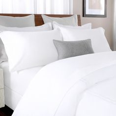 Briarwood Home 100% Cotton Solid Percale Sheet Set Color: White, Size: Twin XL