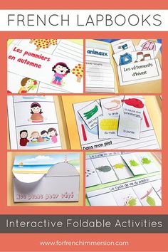 French Lapbooks: hands-on language practice for your French Immersion and Core French classroom. Kids feel engaged by having to interact with the foldables. French Teaching Resources, Teaching French, Teaching Ideas, Learn To Speak French, Interactive Notebooks, Interactive Activities, French Kids, French Education, Core French