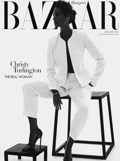 "christyturlingtonfan: ""Harper's Bazaar UK January 2014 (Subscriber Cover)…"