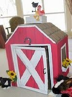 Barn/Farm cardboard playhouse