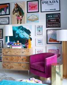 Look how amazing our Hudson Dresser & Gibson Lamp look!  #Repost @clarahaneberg ・・・ An unpublished shot of the sassy teen bedroom by Carson Kressley for #TheChristopherKennedyCompound Modernism Week Showhouse. Tour the entire showhouse in Traditional Home's Feb/March issue. : #MichaelGarlandPhoto #palmsprings #teenbedroom #gallerywall