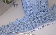 Bordura a uncinetto con ventagli e pippiolini Crochet Edging Patterns, Crochet Lace Edging, Irish Crochet, Knit Crochet, Crochet Ideas, Crochet Placemats, Crochet Kitchen, Crochet Girls, Knitting Videos