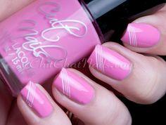 Nice, simple nail stamping using 'Falling Hard'. for Cult Nails ~ by ChitChatNails Gradient Nails, Pink Nails, Modern Nails, Girly Things, Girly Stuff, Some Girls, Easy Nail Art, Creative Nails, Nail Stamping