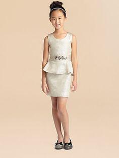 Zoe - Girl's Reptile Peplum Dress - Saks.com
