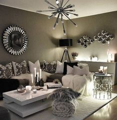 Small Living Room Ideas & Design on a Budget with Decoration Tips Contemporary Living Room in Cologne – Architecture and Home Decor – Bedroom – Bathroom – Kitchen And Living Room Interior Design Decorating … Living Room Decor Furniture, Glam Living Room, Small Living Rooms, Interior Design Living Room, Cozy Living, Furniture Design, Furniture Ideas, Antique Furniture, Decor Room