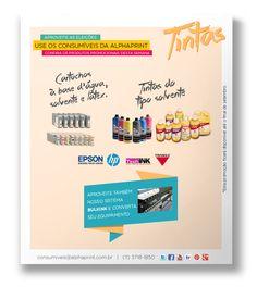 Precisa de tintas para #impressão? Confira as marcas promocionais desta semana na Alphaprint:  #Cartucho #Solvente #Látex