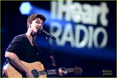 Shawn Mendes & Camila Cabello Cover Justin Bieber's 'Sorry' With Charlie Puth: Photo #900364. Shawn Mendes welcomes Camila Cabello onto the stage with a warm smile during 106.1 KISS FM's Jingle Ball 2015 held at American Airlines Center on Tuesday night…