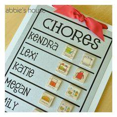 FAMILY CHORE CHART by AbbiesHouse on Etsy, $24.00
