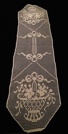 Ready To Ship Baskets and Flowers Table runner