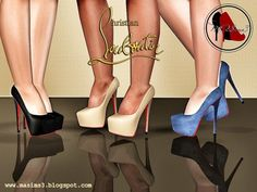 Christian Louboutin Daffodile 160 mm 3D Pumps by MrAntonieddu - Sims 3 Downloads CC Caboodle