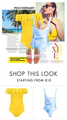 """Yellow summer"" by elmaimsirovic ❤ liked on Polyvore featuring Fendi, Summer, yellow and swimwear"