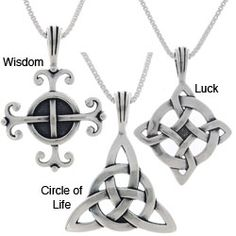 Jewelry Trends Choice of Sterling Silver Celtic Luck Necklaces by Carolina…