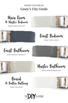 """Favorite Neutral Paint Colors in Our Homes. A neutral paint color palette for a home. We're always answering the question, """"what paint color is that?"""" Here's a comprehensive list of our favorite neutral paint colors in our homes."""