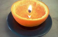homemade easy diy orange peel candle