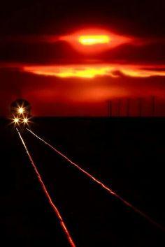 "Inspiration for my novel ""Promise"": night train."