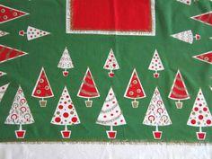 Vintage Christmas Tablecloth - Google Search