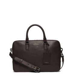 Bryant Medium Pebbled-Leather Briefcase | Michael Kors