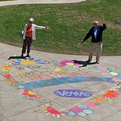 Residents and staff at The Roxborough Retirement Residence were surprised by this beautiful chalk art, It brought smiles to everyone's faces! Senior Living Communities, Wellness Activities, Above And Beyond, Chalk Art, Retirement, Sunshine, Faces, Kids Rugs, Community