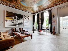 Four bedroom apartment on Place des Victoires Parisian Apartment, Paris Apartments, Bedroom Apartment, Loft Paris, Paris Home, Home Interior Design, Interior Decorating, La Rive, Modern Furniture