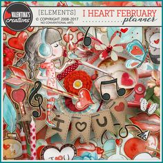 Digital Art :: Bundled Deals :: I Heart February (Everything in it)