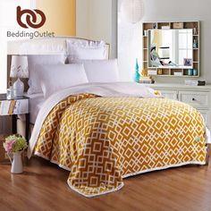 BeddingOutlet Blanket Light Blue Floral Home Textiles Super Soft Flannel Blanket…