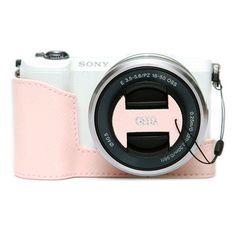 New CIESTA Sony a5100 Leather Half Case + Capfix Pink For Sony ILCE-5100 Case