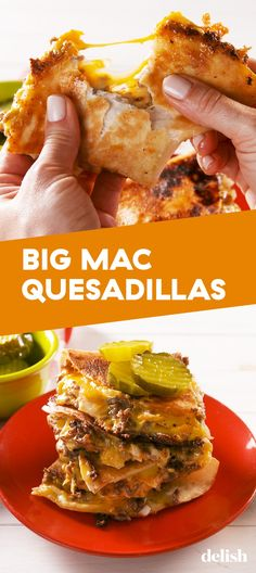 Mac Quesadillas Big Mac Quesadillas Are All About The Special SauceDelishBig Mac Quesadillas Are All About The Special SauceDelish Lunch Recipes, Mexican Food Recipes, Beef Recipes, Dinner Recipes, Cooking Recipes, Healthy Recipes, Healthy Appetizers, Quesadilla Recipes, Big Mac