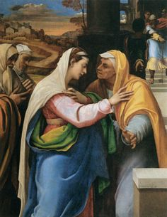 La Visitation, par Sebastien del Piombo (1518-1519)