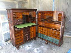 "THE MOORE ""OFFICE QUEEN"" CABINET DESK c. 1878 Unique   eBay"