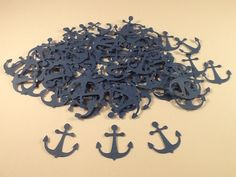 100 Blue Anchor Confetti #boot camp going away party