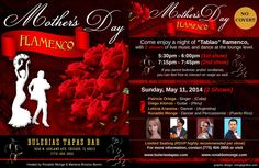 Mothers Day Flamenco Shows invite your MOM to a Flamenco Show @ Bulerias Tapas